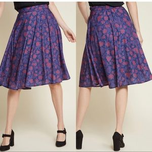 ModCloth Just This Sway Skirt Floral